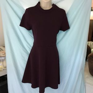 Forever 21 Fit and Flare Dress, Purple, L